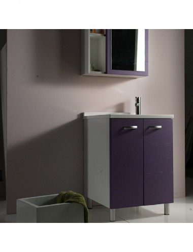 Mobile lavatoio lavanderia Sfera 45x60 con asse in legno massello vari colori