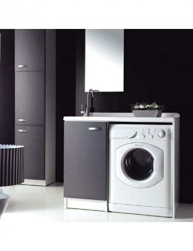 Mobile lavatoio lavanderia copri lavatrice Sfera 107x61 sx aperto vari colori