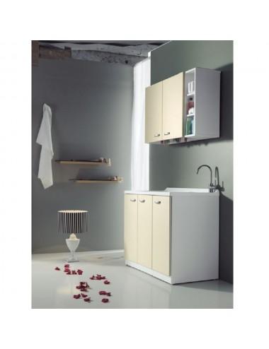 Mobile lavatoio lavanderia 124x61 copri lavatrice Sfera sx 3 ante vari colori