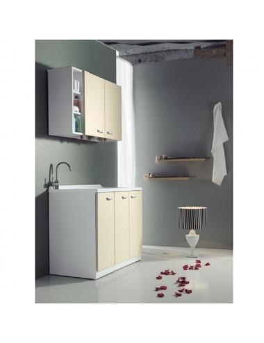 Mobile lavatoio lavanderia 124x61 copri lavatrice Sfera dx 3 ante vari colori