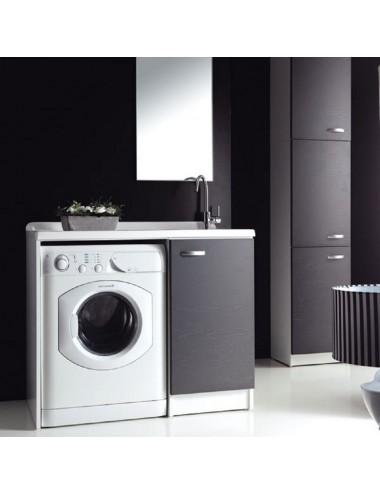 Mobile lavatoio lavanderia 109x61 copri lavatrice Sfera dx aperto vari colori