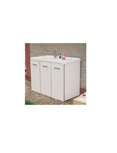 Mobile lavatoio lavanderia 124x61 copri lavatrice Lady bianco dx 3 ante