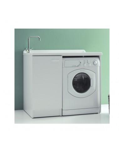 Mobile lavatoio lavanderia 124x61 copri lavatrice Lady bianco dx aperto