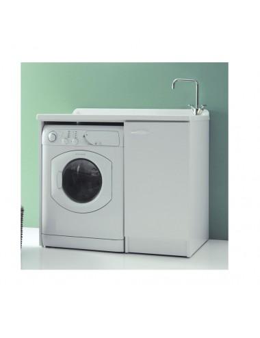 Mobile lavatoio lavanderia 124x61 copri lavatrice Lady bianco sx aperto