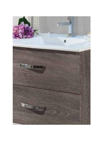 Composizione mobile bagno sospeso moderno Murano cm 80 vari colori