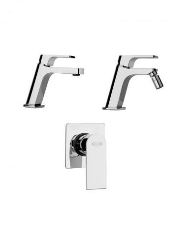 Set completo miscelatori lavabo bidet incasso doccia Jacuzzi Twilight cromo