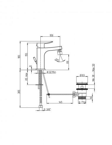 Miscelatore monocomando bidet Jacuzzi rubinetterie Tank cromato con piletta