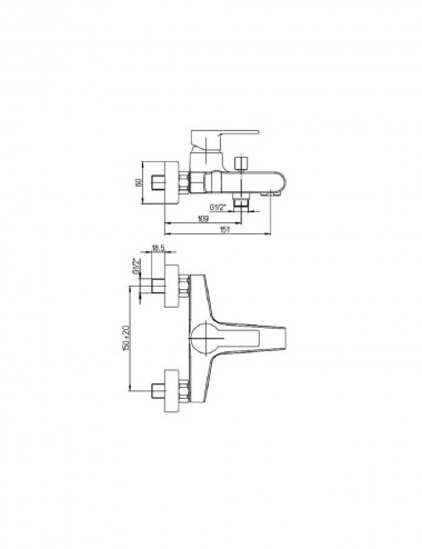 Miscelatore monocomando gruppo vasca Jacuzzi rubinetterie Eolo cromato c/duplex