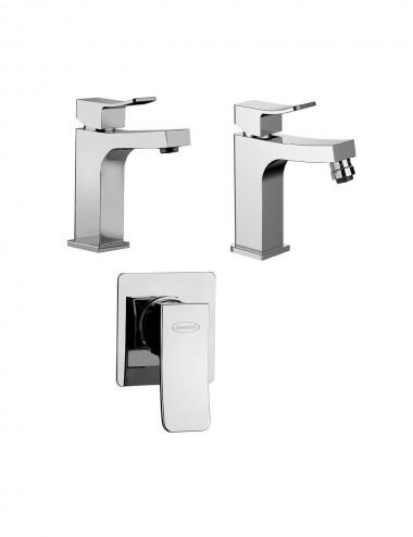 Set completo miscelatori lavabo bidet inc doccia c dev Jacuzzi twilight cromo