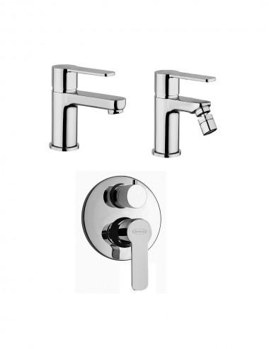 Set completo miscelatori lavabo bidet inc doccia con dev Jacuzzi eolo cromo