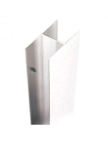 Profilo di compensazione box doccia porta doccia h 185 alluminio colore bianco