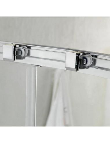 Box doccia 3 lati Replay 70x100x70 h 185 cm scorrevole cristallo trasparente 6mm