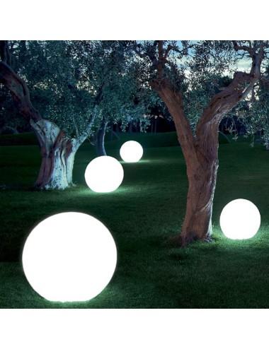 Lampada da interno ed esterno sfera luminosa Balux cm 70 modum by Telcom