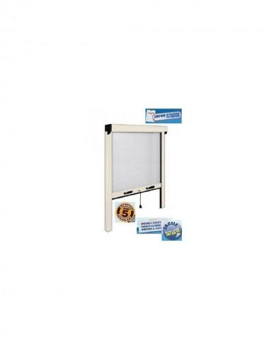 Zanzariera finestra verticale con frizione alluminio bianco cm  140 x 170