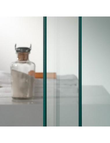 Box doccia 3 lati Coral 75x100x75 h 198 cm doppio battente trasparente 6mm