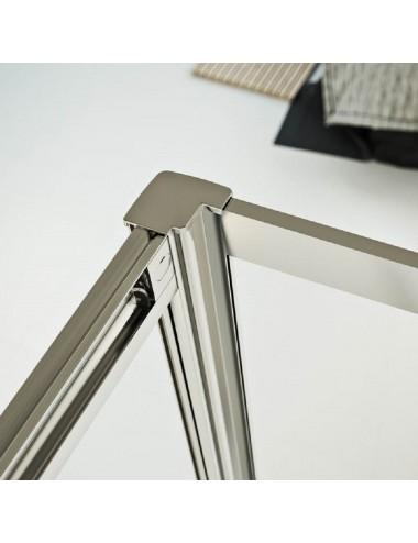 Zanzariera per finestra verticale con frizione alluminio bianco