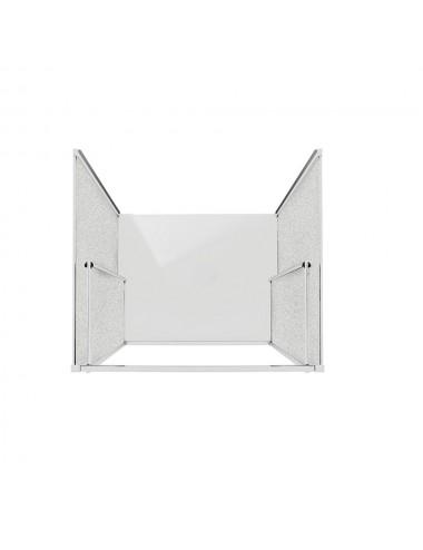 Zanzariera per finestra verticale in alluminio marrone