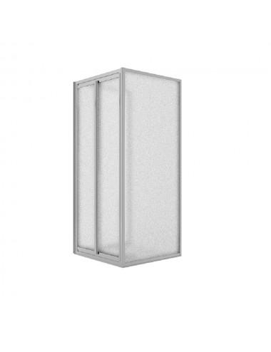 Zanzariera Verticale per finestra con frizione in alluminio bianco