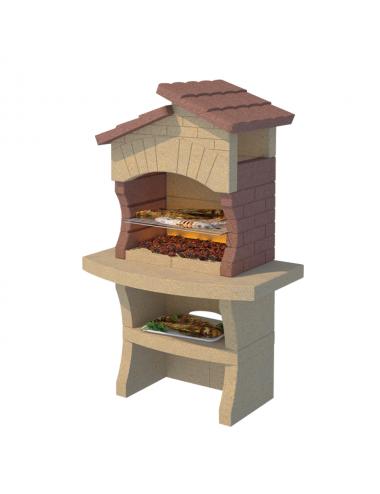 Barbecue a muratura Minorca Linea Vz legna e carbonella