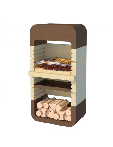 Barbecue a muratura Monopoli Linea Vz legna e carbonella