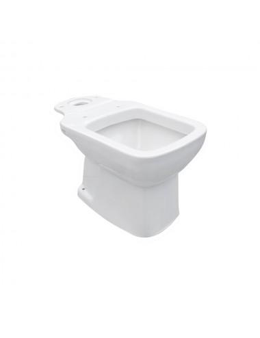 Vaso Wc monoblocco ceramica bianco completo di sedile e cassetta modello Jasmine