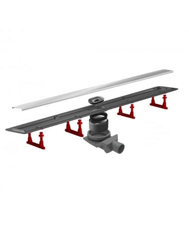 Canalina di scarico doccia in acciaio inox reversibile varie misure