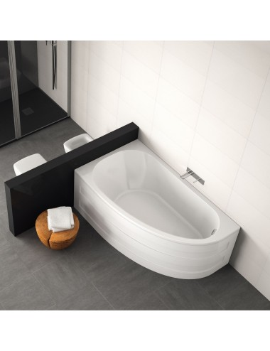 Vasca da bagno asimmetrica Tripoli cm  160 x 90 x 60,5 h