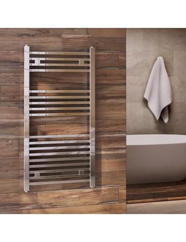 Termoarredo bagno scaldasalviette Aton Design tubi quadrati cromo