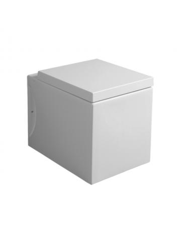 Vaso Wc filo muro in ceramica bianca Frozen Simas completo di sedile soft close