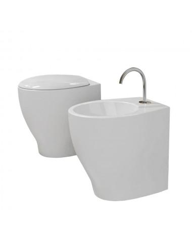 Sanitari filo muro modello Mascalzone Domus Falerii wc,  bidet, sedile wc soft
