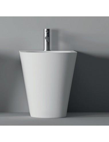 Bidet filo muro in ceramica bianca Hide Round Alice Ceramiche