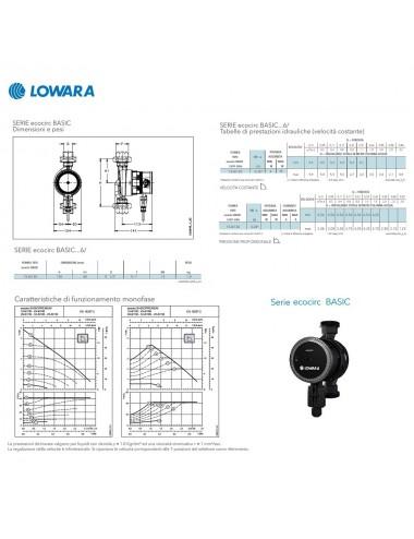 Circolatore Lowara velocit   variabile ecocirc basic 15-6