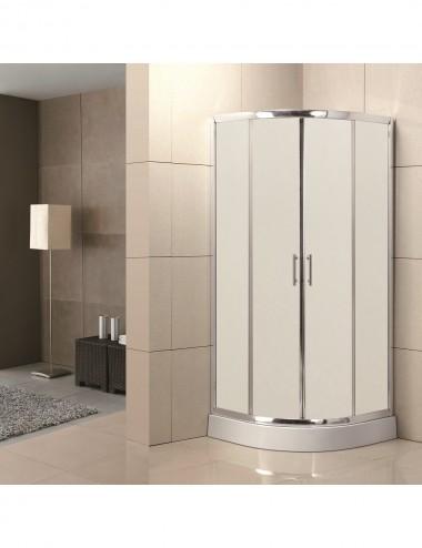 Box doccia angolare semicircolare scorrevole 90x90 cristallo opaco 6 mm