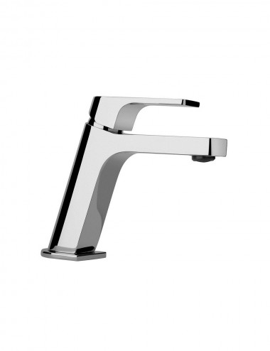 Miscelatore lavabo monocomando Jacuzzi rubinetterie Twilight cromato con piletta