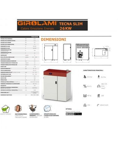 Caldaia policombustibile Girolami Tekna Slim Hydro 26Kw + KIT ACS