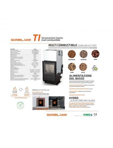 Termocamino policombustibile Girolami Ti Hydro 34Kw + KIT ACS