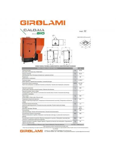 Caldaia policombustibile Girolami Eco Bio Hydro 32Kw senza KIT ACS
