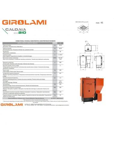 Caldaia policombustibile Girolami Eco Bio Hydro 45Kw senza KIT ACS