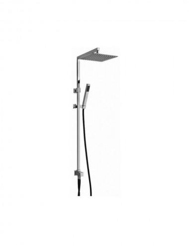 Colonna doccia glint 04 Jacuzzi con deviatore e soffione in acciaio 25x25 cm