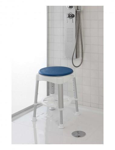 Sgabello doccia alluminio seduta girevole disabili anziani Feridras