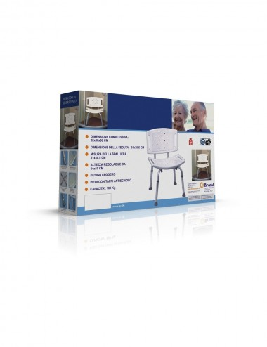 Sedia doccia alluminio e idpe disabili anziani Feridras