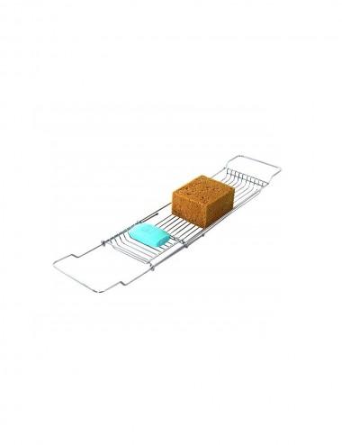 Mensola portaoggetti in acciaio cromato per vasca regolabile Feridras