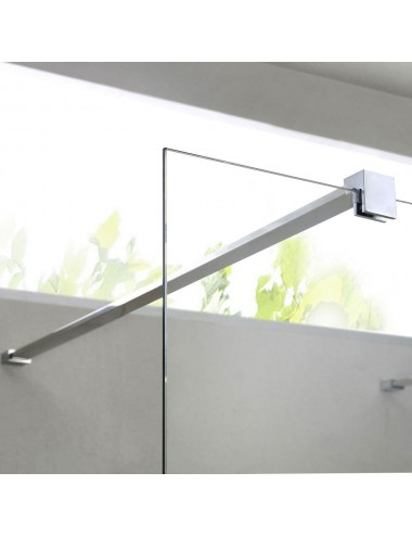 Parete doccia Walk-In a muro cm 100 cristallo trasparente 8 mm reversibile