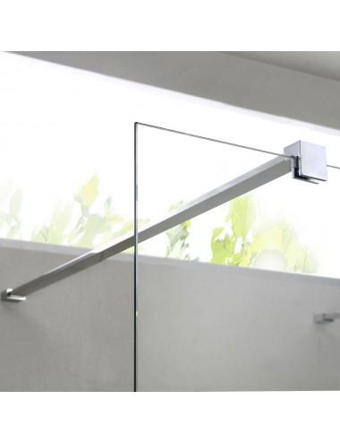 Parete doccia Walk-In a muro cm 140 cristallo trasparente 8 mm reversibile