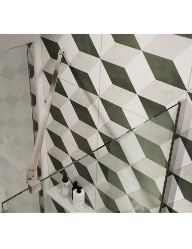 Parete doccia Walk-In a muro cm 40 cristallo trasparente 6 mm reversibile