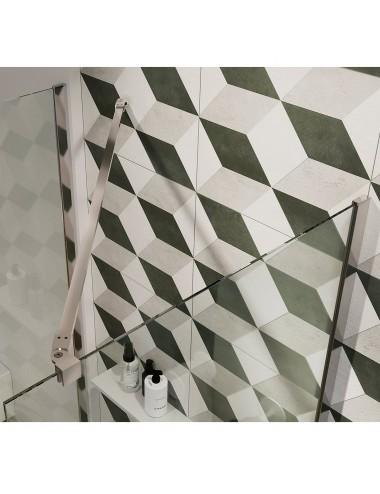 Parete doccia Walk-In a muro cm 46 cristallo trasparente 6 mm reversibile