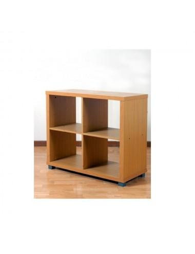 Libreria moderna design mobile porta televisione 4 vani a giorno in faggio