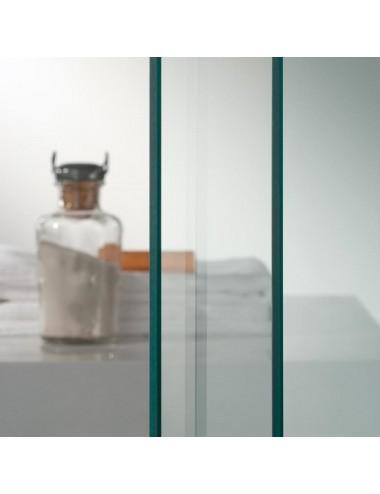 Box doccia 3 lati Crystal 75x90x75 h 198 cm a battente cristallo trasparente 6mm