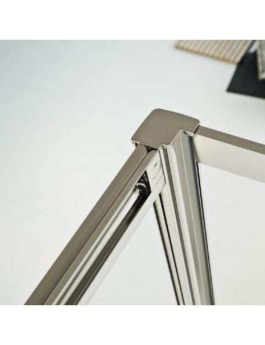 Box doccia 3 lati Crystal 80x75x80 h198 cm a battente cristallo trasparente 6mm