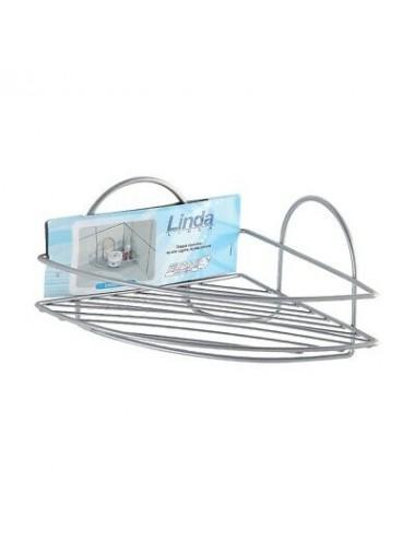 Mensola bagno doccia angolare 1 ripiano in acciaio cromato antiruggine Feridras